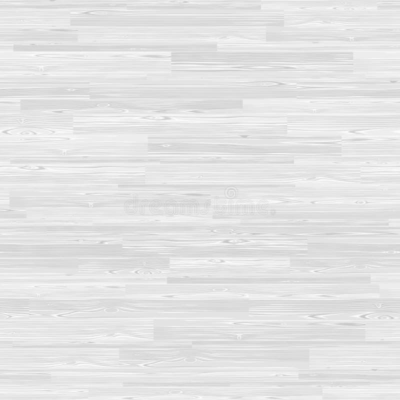 Biała Parkietowa Bezszwowa Drewniana lampas mozaiki płytka royalty ilustracja