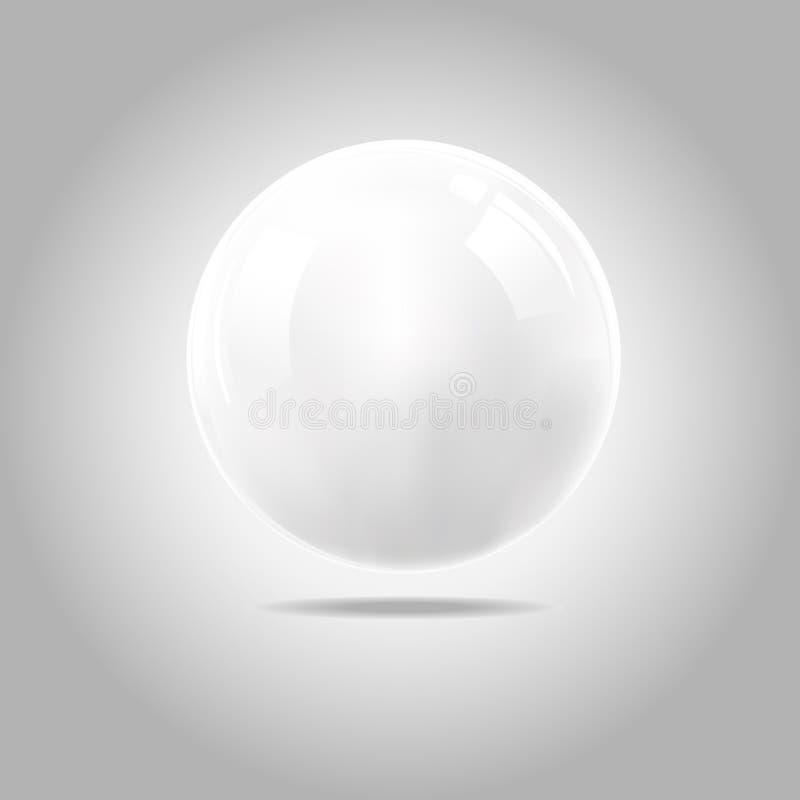Biała piłka royalty ilustracja