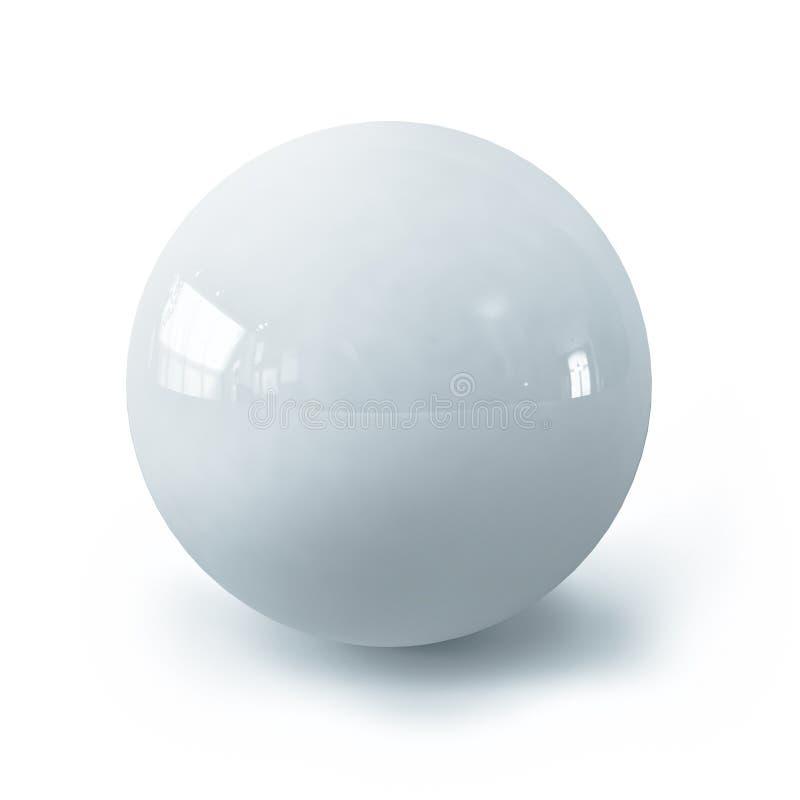 Biała piłka obraz royalty free