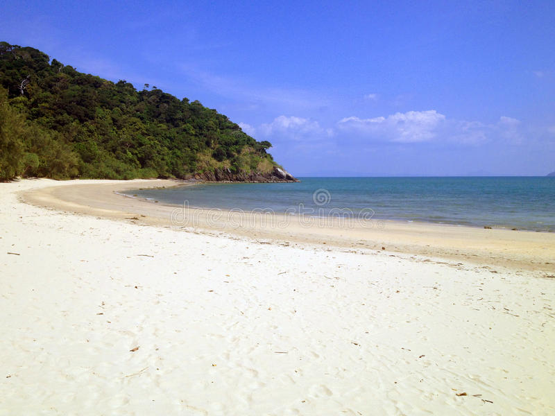 Biała piasek plaża obraz royalty free
