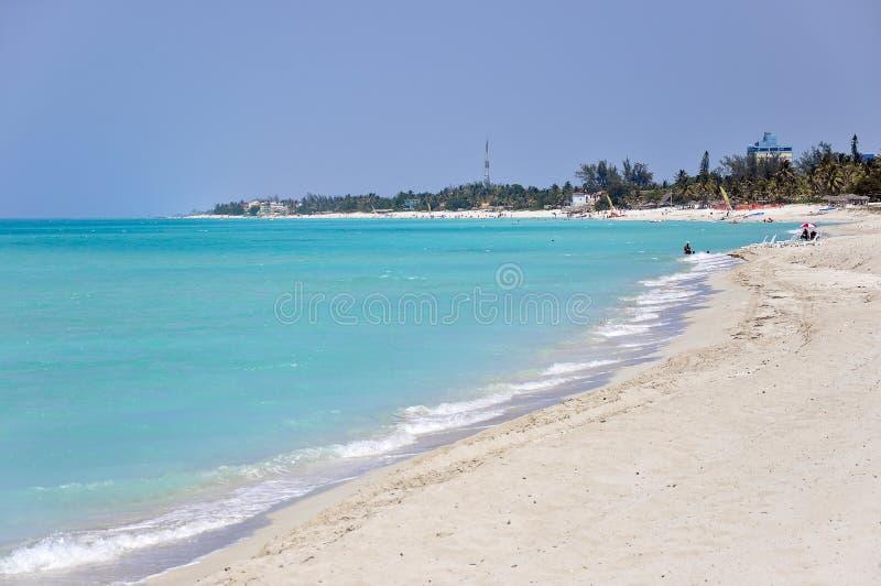 Biała piasek plaża w Varadero, Kuba fotografia royalty free