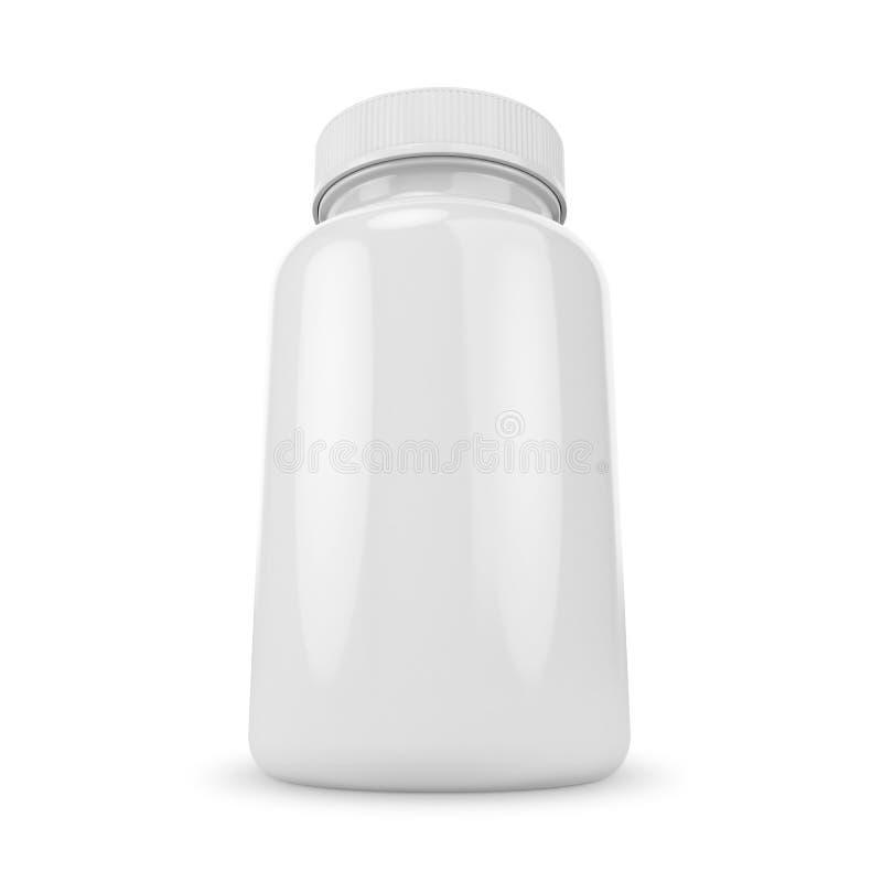 Biała pigułki butelka fotografia stock