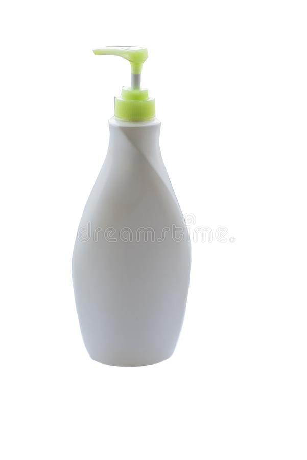 Bia?a plastikowa butelka fotografia royalty free