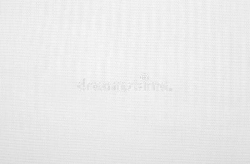 Biała prostacka brezentowa tekstura. Krótki dystansowy punkt widzenia obraz stock
