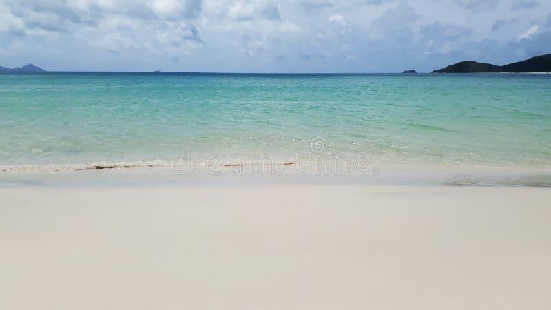 biała przystani plaża w Australia zdjęcia royalty free