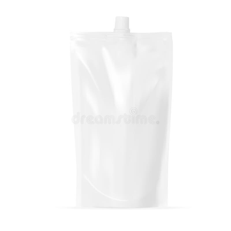 Biała pusta kieszonka Jasna paczka Dla kumberlandu, majonezu Lub ketchupu, ilustracji