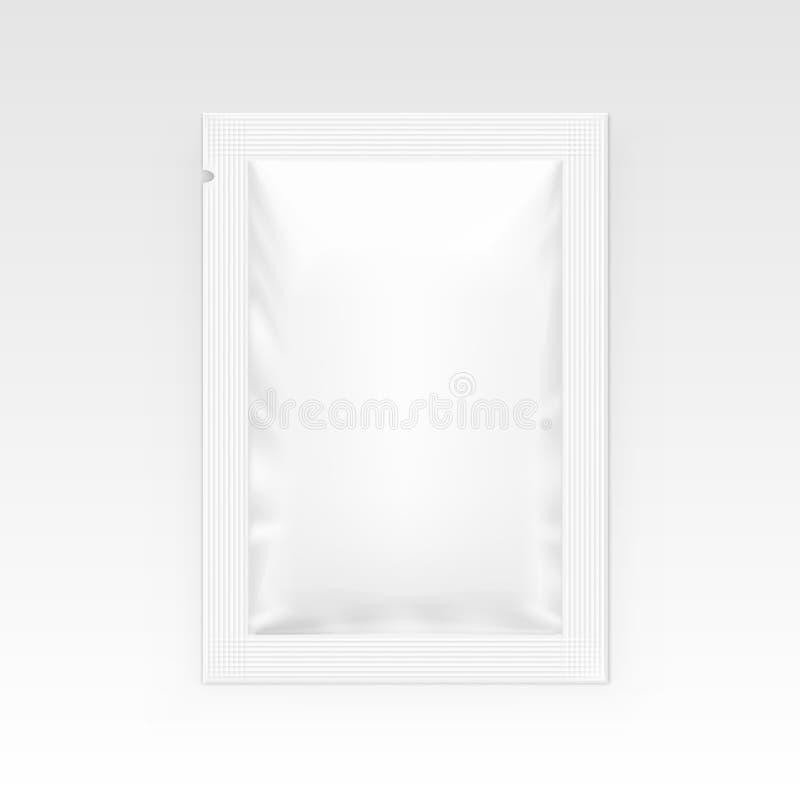 Biała puste miejsce jasnego saszetka Dla, Medyczny, ilustracja wektor