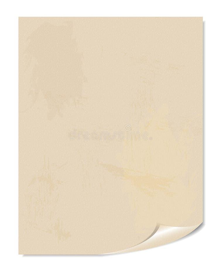 Biała pustej strony wektoru ilustracja ilustracja wektor