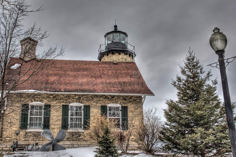 Biała Rzeczna latarnia morska obrazy royalty free