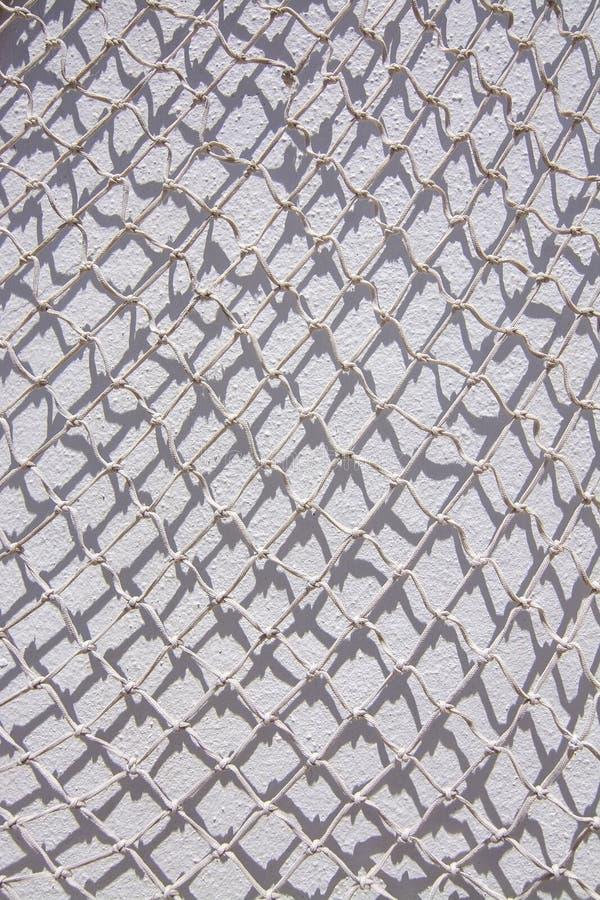 Biała sieć rybacka bielu ściana zdjęcia royalty free