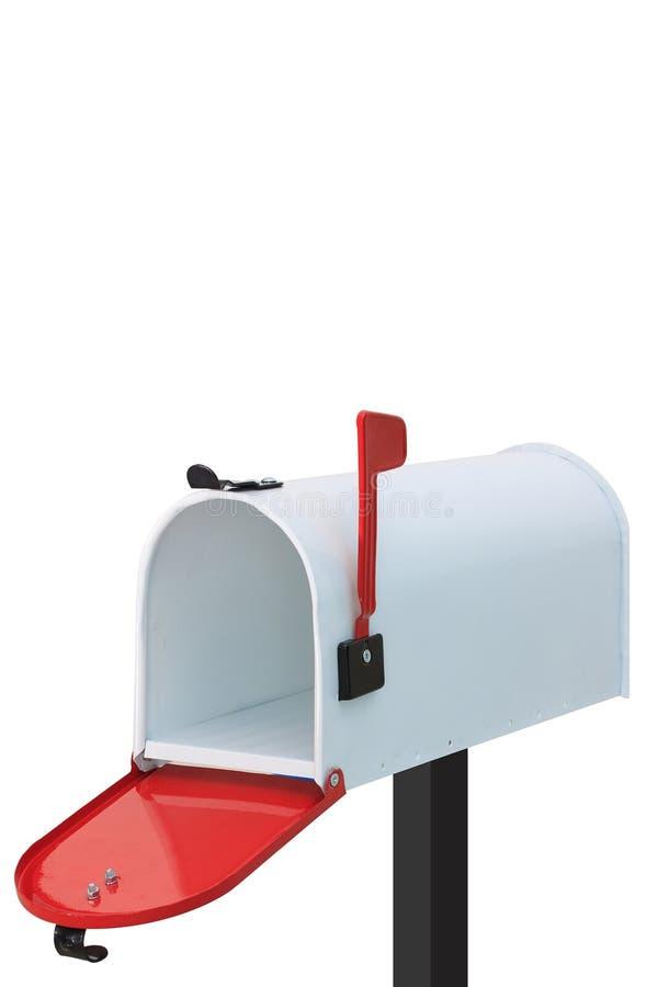 Biała skrzynka pocztowa obrazy stock
