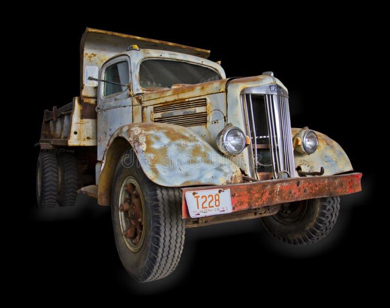 Biała supermocarstwo ciężarówka Odizolowywająca zdjęcie royalty free