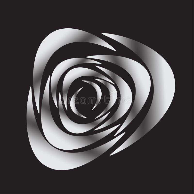 Biała sylwetka wzrastał na czarnym tle, wektorowa ilustracja royalty ilustracja