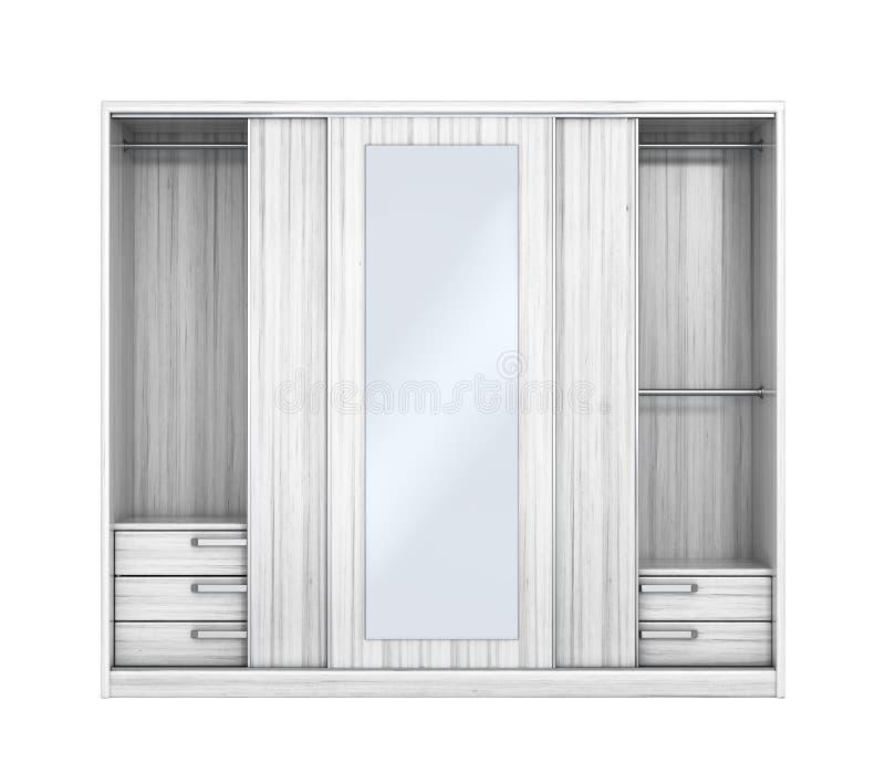 Biała szafa z otwarte drzwi Szafa przedział ilustracja wektor