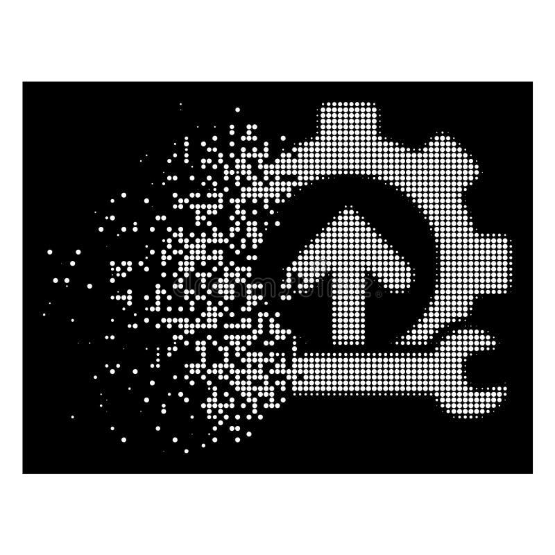 Biała Tarta Pixelated Halftone przekładni integracja Wytłacza wzory ikonę ilustracji