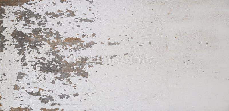 Biała tekstura z drewna, farba do peelingu na drewnianym Pusty do projektowania, wzorku, okładki, tekstury nakładki, tła i innych fotografia stock