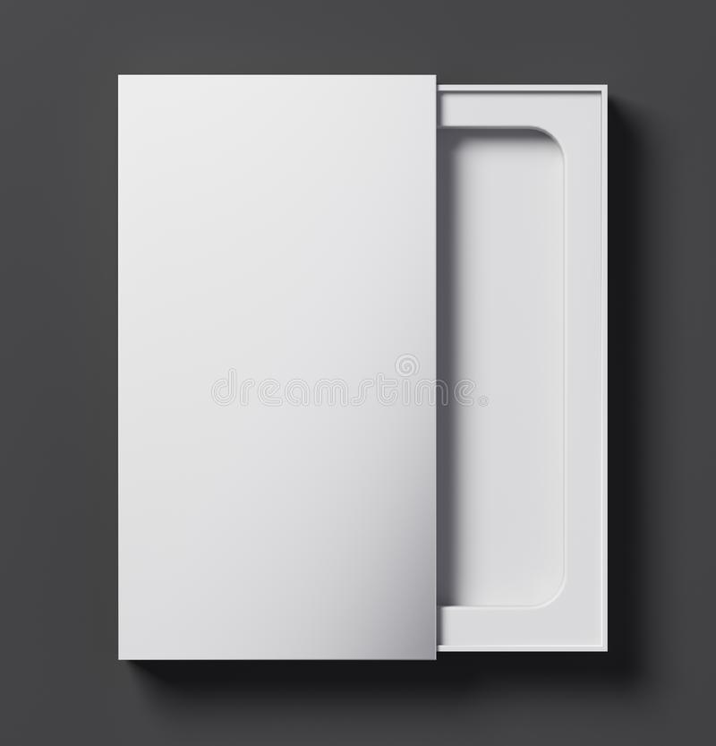 Biała telefonu pudełka szablonu połówka otwarta - 3D ilustracja ilustracja wektor