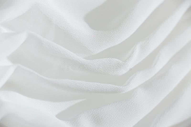 Biała tkanina sukni ślubnej obrazy royalty free