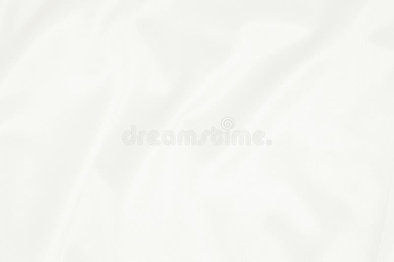 Biała tkaniny tekstura dla tła, piękny wzór jedwab lub pościel, zdjęcia royalty free
