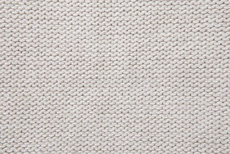 Biała trykotowa tkaniny tekstura zdjęcia royalty free