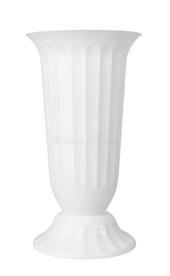 Biała waza obraz stock