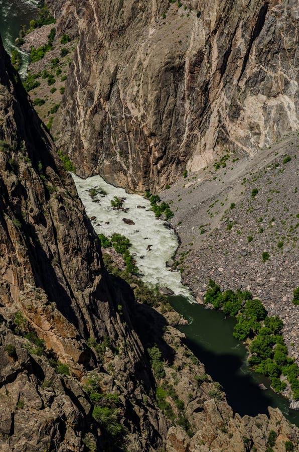 Biała woda na Gunnison rzece obrazy stock