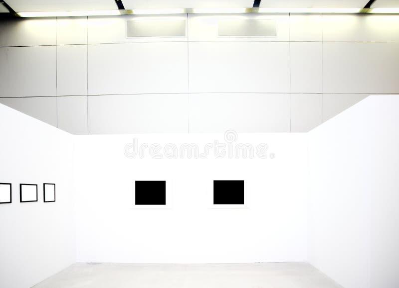 białe ściany klatek pusty fotografia stock
