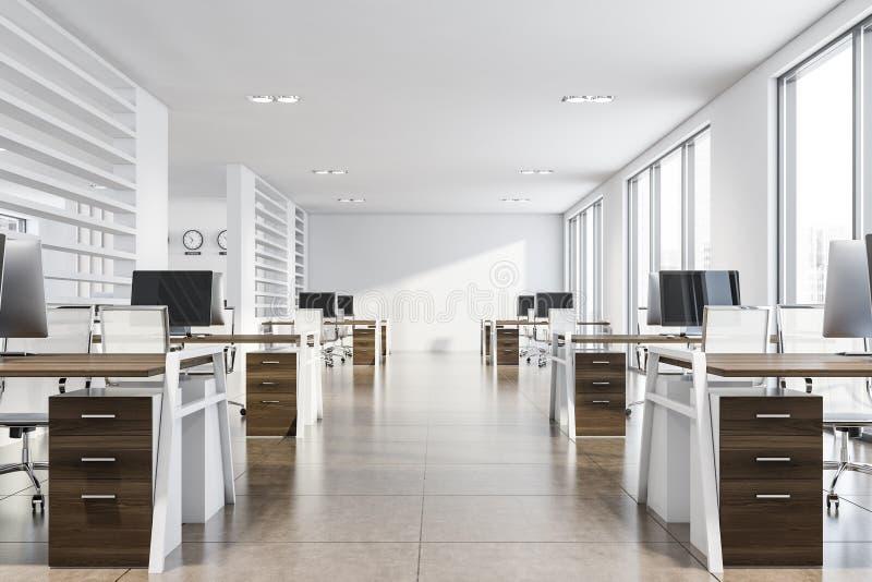 Białe biuro konsultantów royalty ilustracja