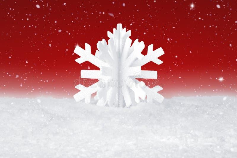 Białe Boże Narodzenie płatka śnieżna dekoracja zdjęcia royalty free