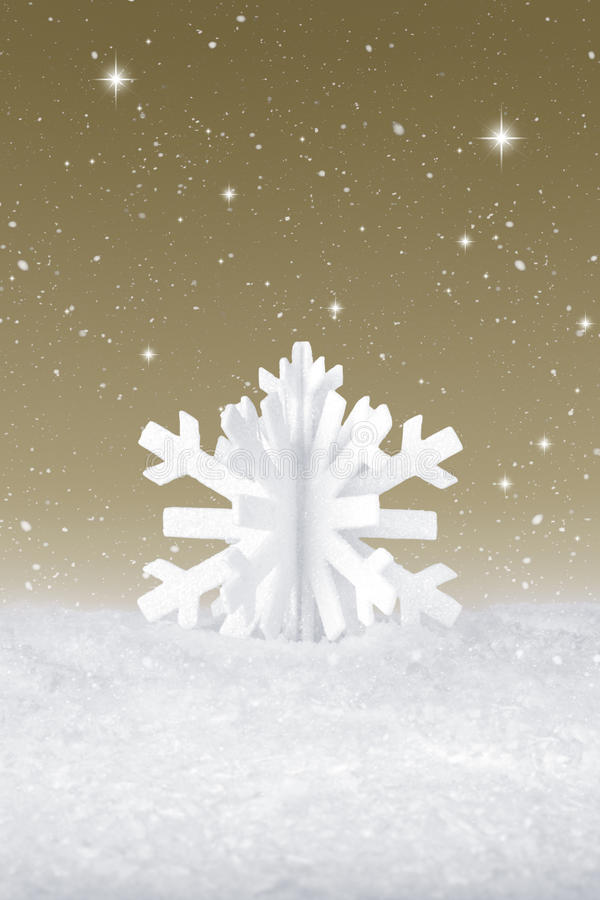 Białe Boże Narodzenie płatka śnieżna dekoracja obrazy royalty free