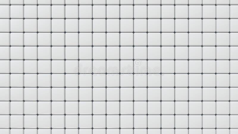 Białe Ceramiczne łazienek płytki, 3D renderingu tło ilustracja wektor