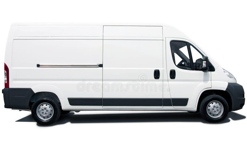 białe furgonetki obrazy royalty free