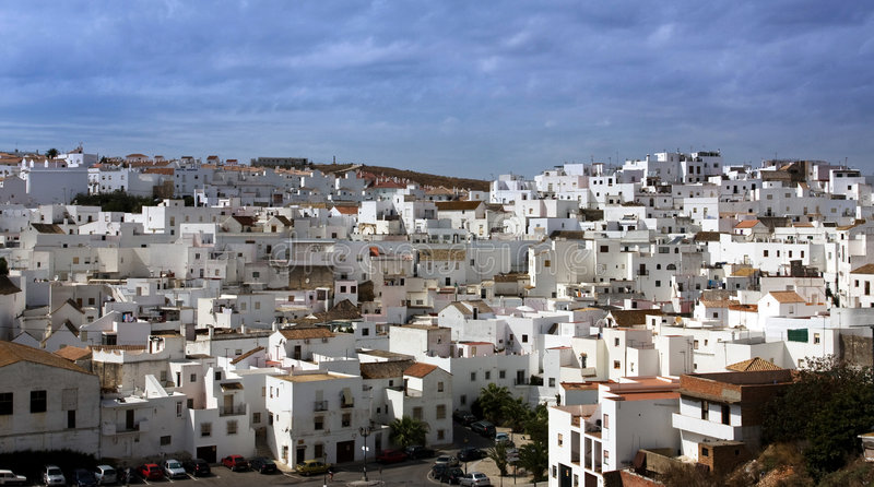 białe hiszpanii wioski fotografia stock