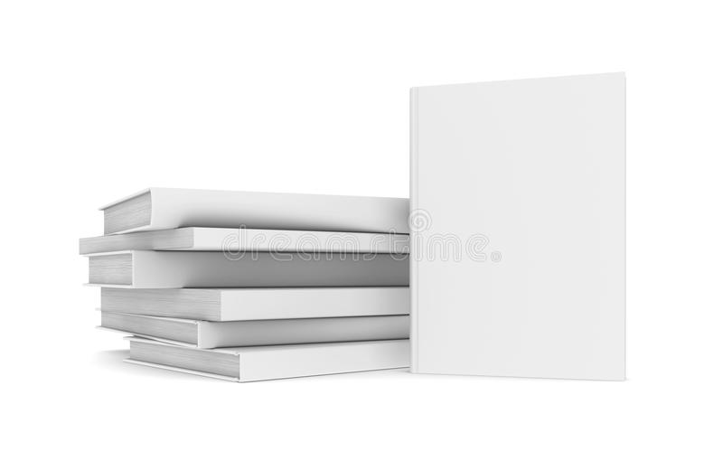 Białe książki ilustracja wektor