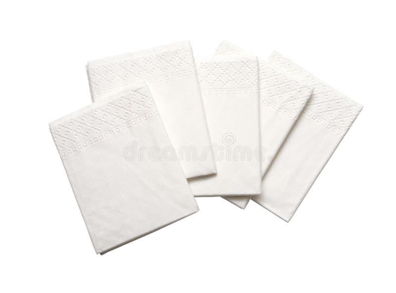 Białe Papierowe pieluchy obraz royalty free