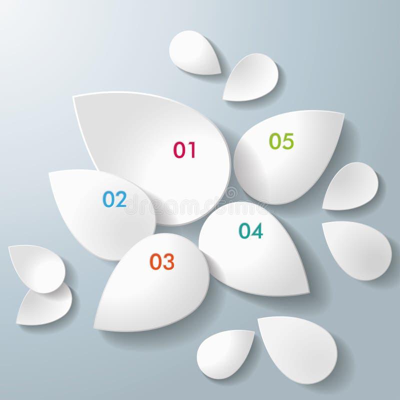 Białe Pełne krople ilustracji