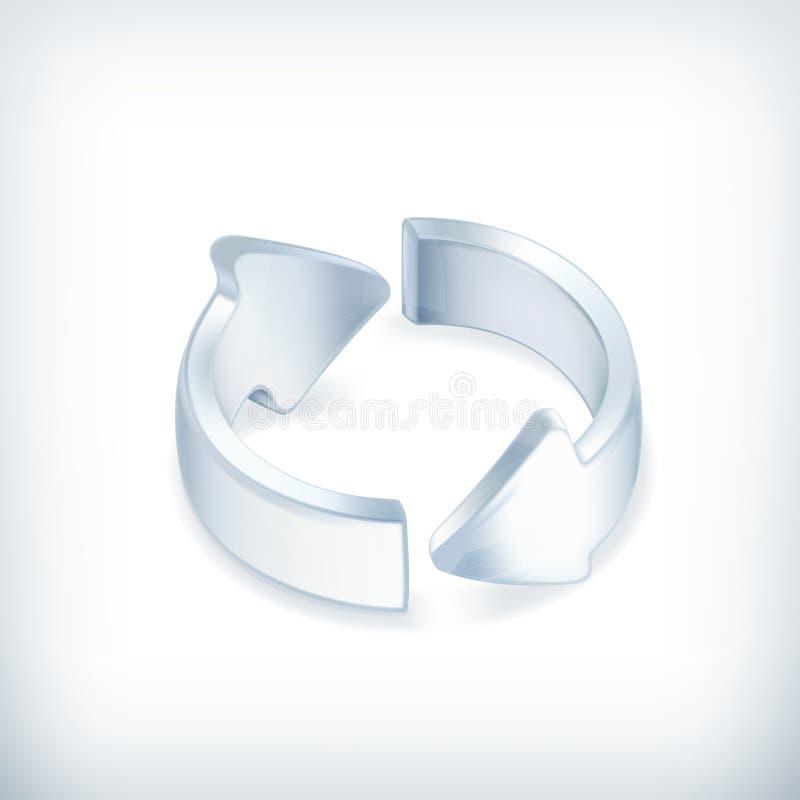 Białe strzała, ikona royalty ilustracja