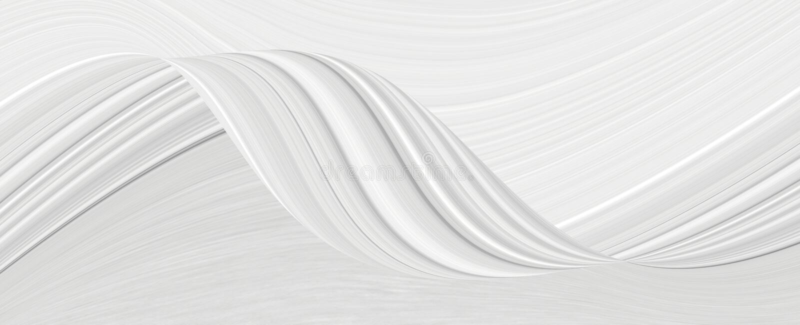 Białe tło 3d z elementami fal w fantastycznym abstrakcyjnym projekcie, teksturą linii w nowoczesnym stylu ilustracja wektor