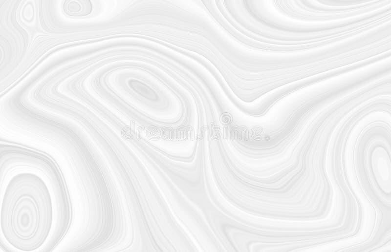 Białe tło 3d z elementami fal w fantastycznym abstrakcyjnym projekcie, teksturą linii w nowoczesnym stylu royalty ilustracja