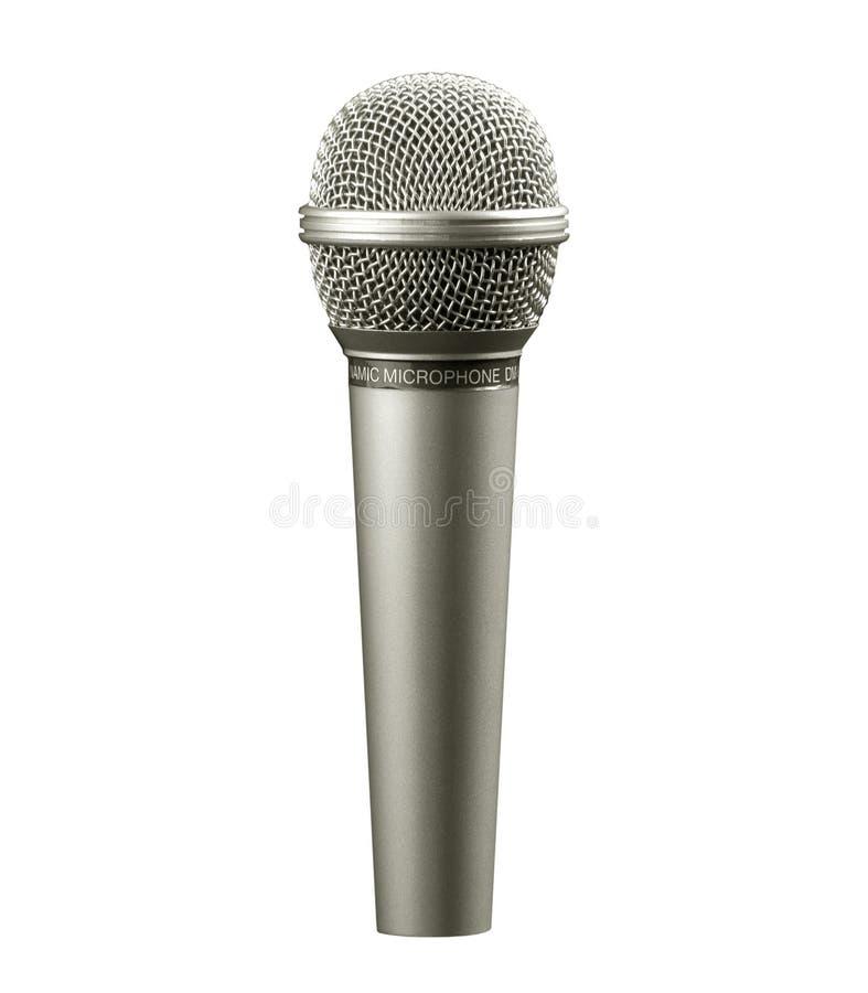 białe tło mikrofonu zdjęcia stock