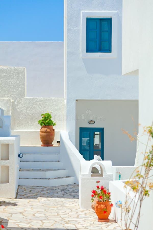 Białe wille w Oia, Santorini fotografia royalty free
