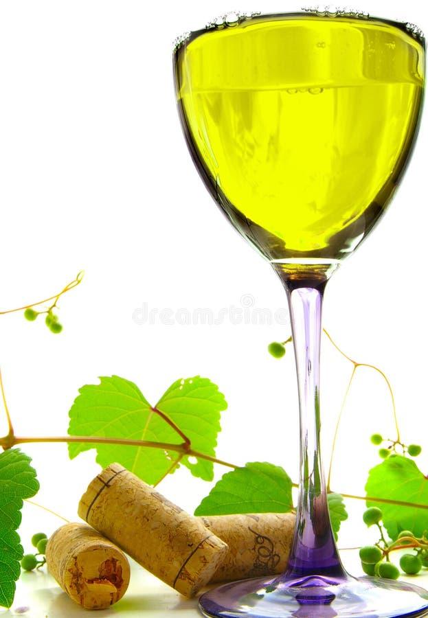 białe wino fotografia stock