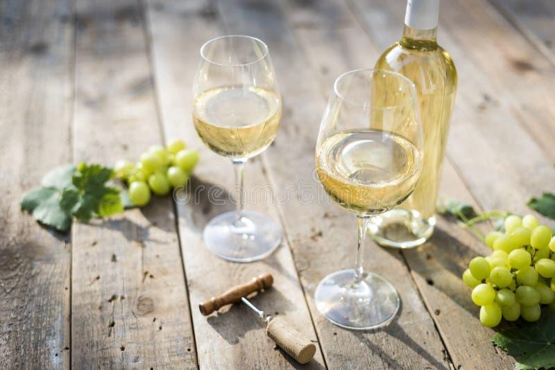 białe wino zdjęcie stock