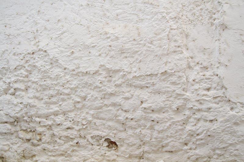 Białego cementu ściany tekstura dla tła i projekta sztuki pracy obraz stock