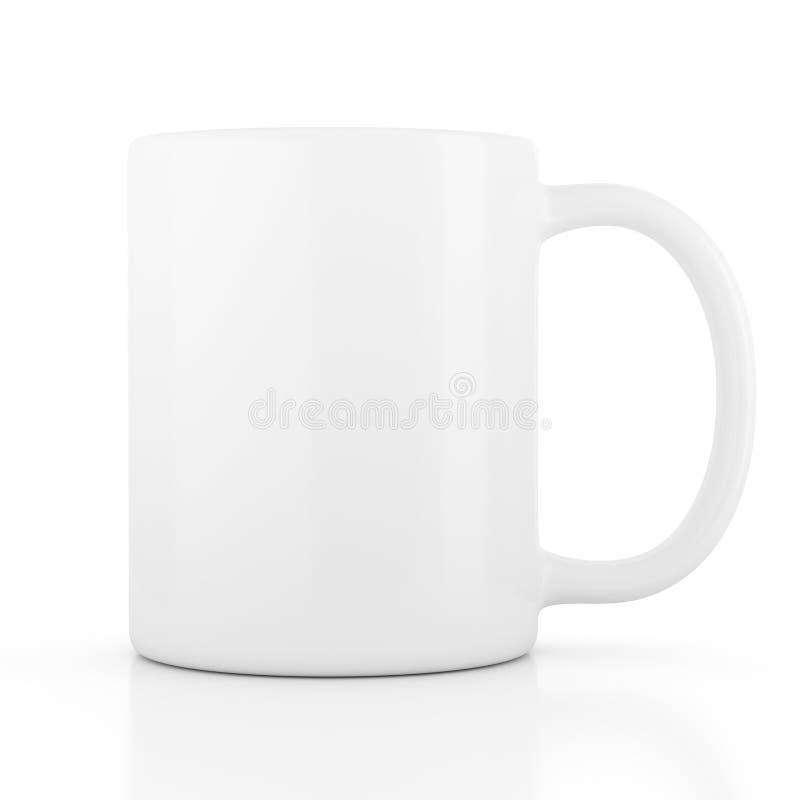 Białego ceramicznego kubka pusty puste miejsce dla kawy lub herbaty fotografia stock