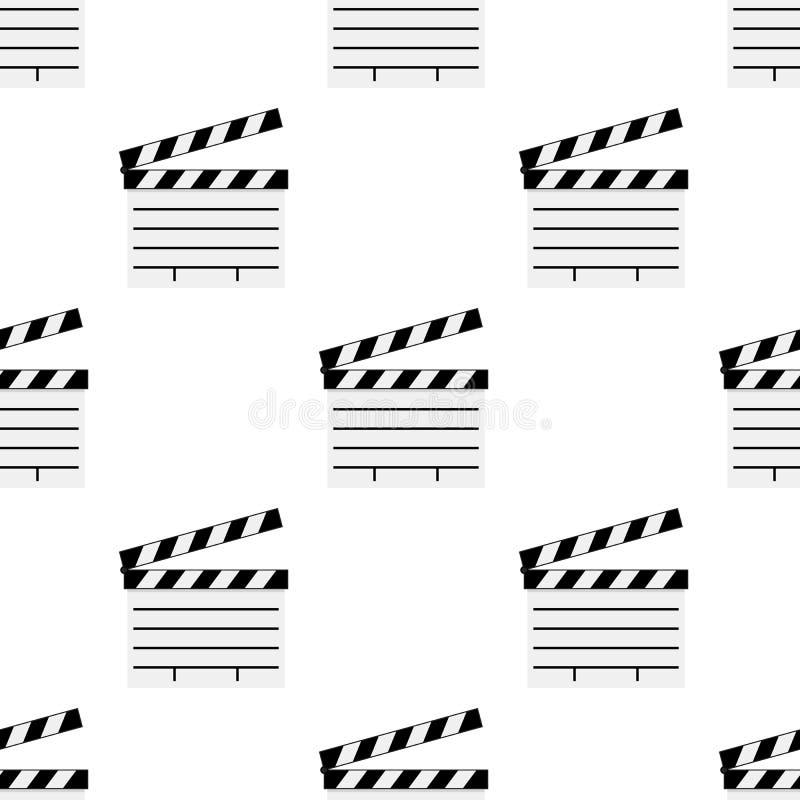 Białego filmu Clapboard Bezszwowy wzór ilustracja wektor