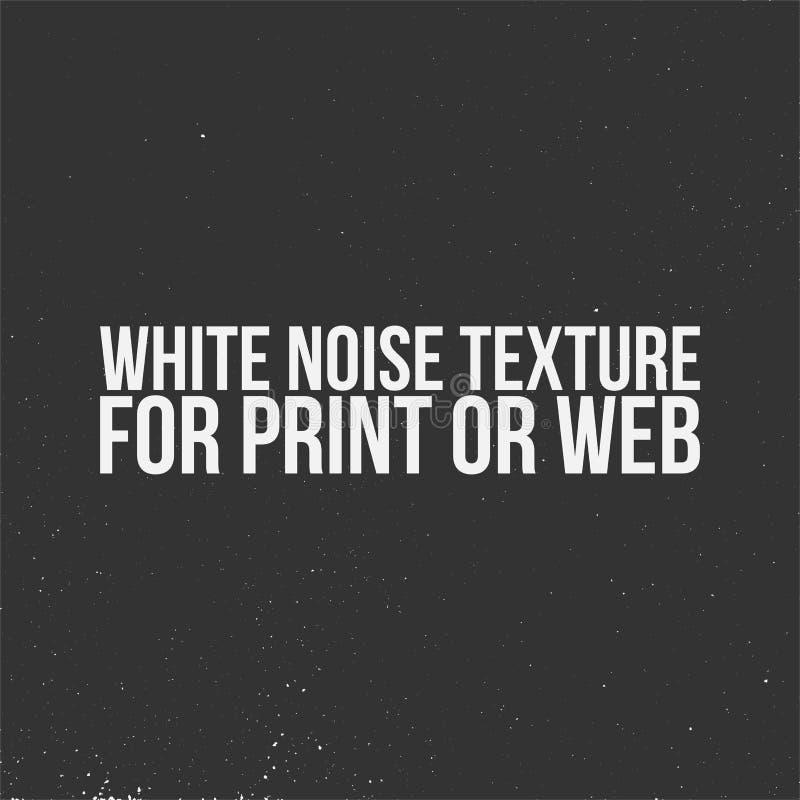 Białego hałasu tekstura dla druku lub sieci royalty ilustracja