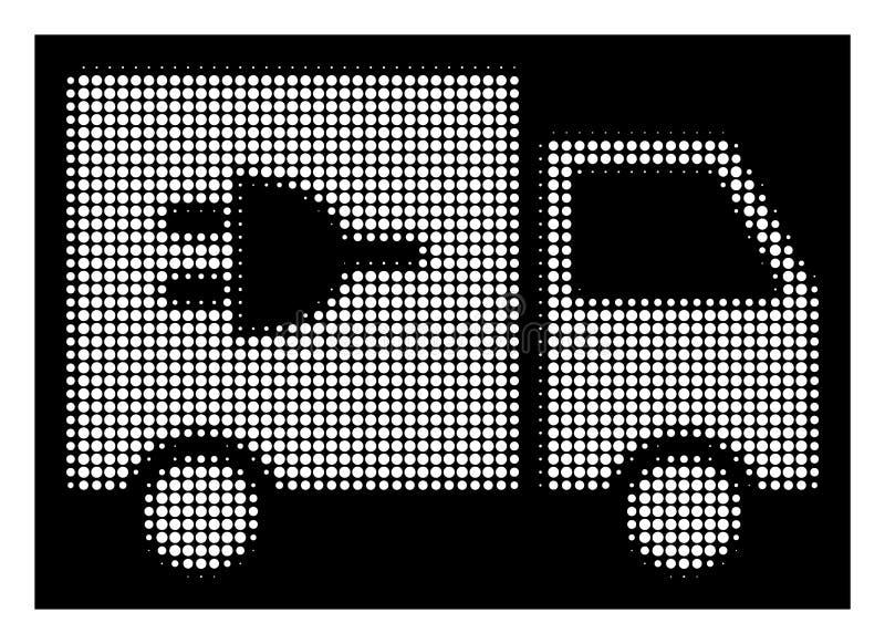 Białego Halftone Elektryczna Ciężarowa ikona royalty ilustracja