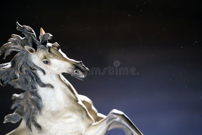 Białego konia postaci pył zdjęcia stock