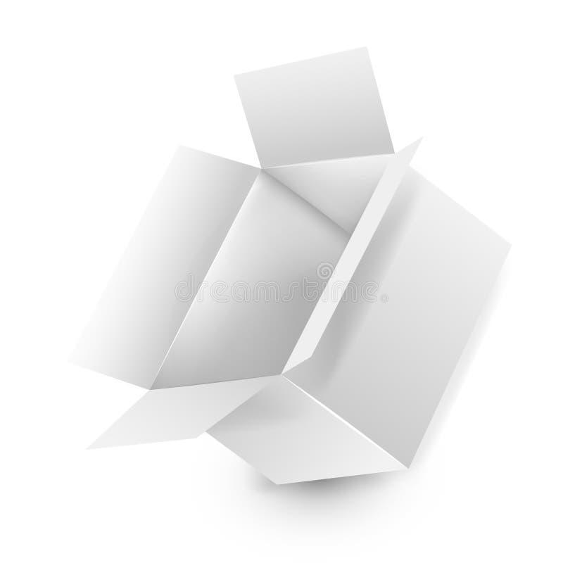 Białego kwadrata papierowy pudełko ilustracji